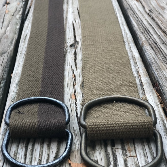 Other - ⚠️Men's Canvas Fabric D-Ring belts⚠️